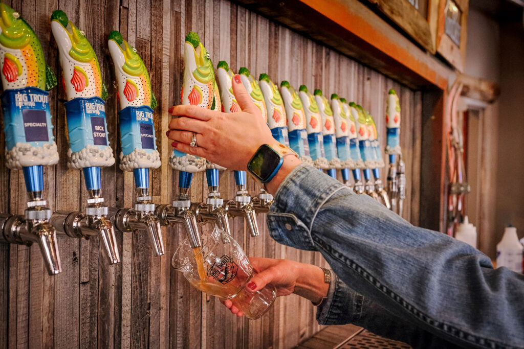 Beer on tap at Big Trout Brewing