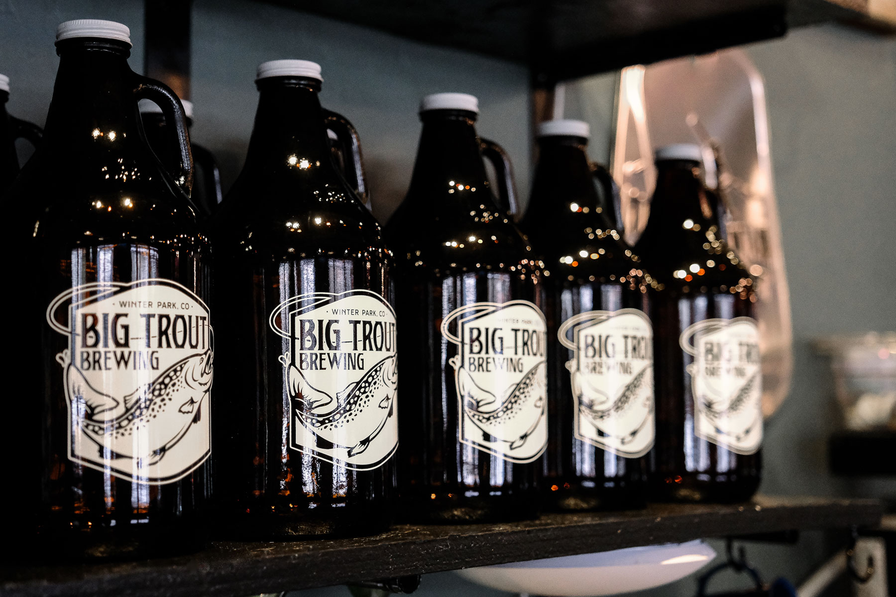 Growlers at Big Trout Brewing in Winter Park Co