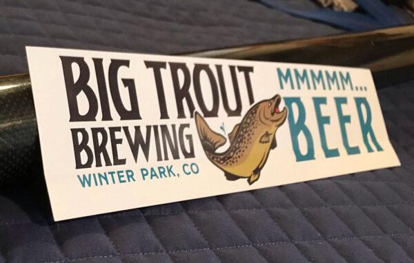 Big Trout Brewing bumper sticker